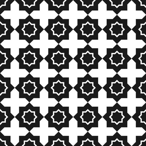 Vector seamless pattern. Black and white Repeating geometric square pattern