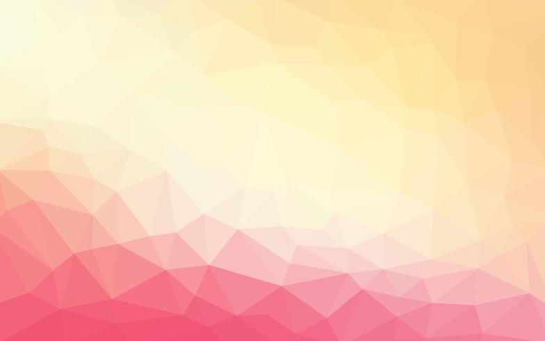 Light pink orange vector Low poly crystal background. Polygon de