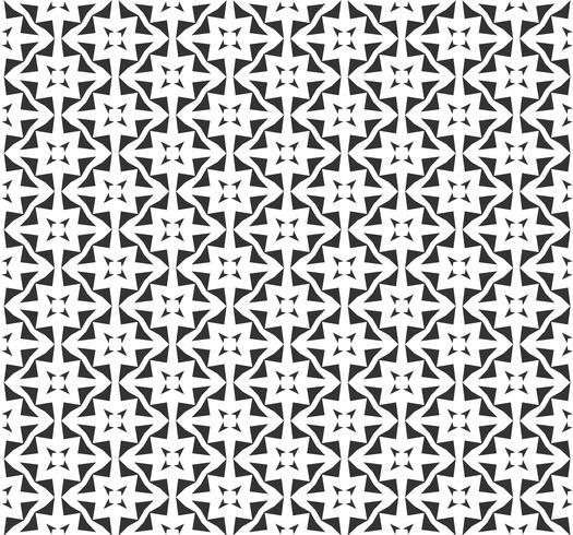 Modello senza cuciture geometrico astratto. Ripetendo geometrica trama in bianco e nero. vettore