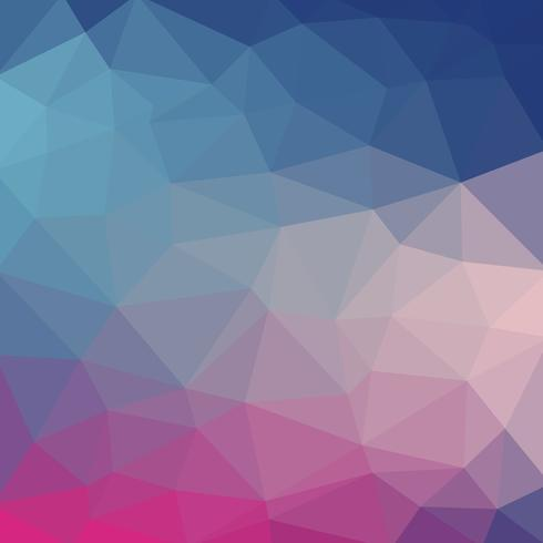 Lichtblauwe koele vector Lage polykristalachtergrond. Veelhoek ontwerppatroon. Lage polyillustratieachtergrond.