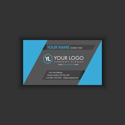Sjabloon voor modern creatieve en schone visitekaartjes met donker blauw vector
