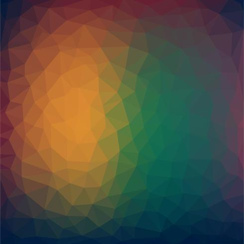 Abstract Colorful Low poly Vector Background with warm gradient futuristic pattern.