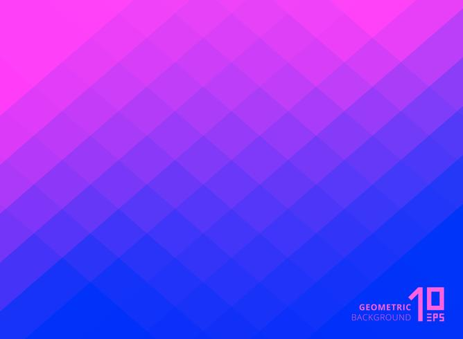 Abstract pink and blue gradient color squares pattern background with copy space.
