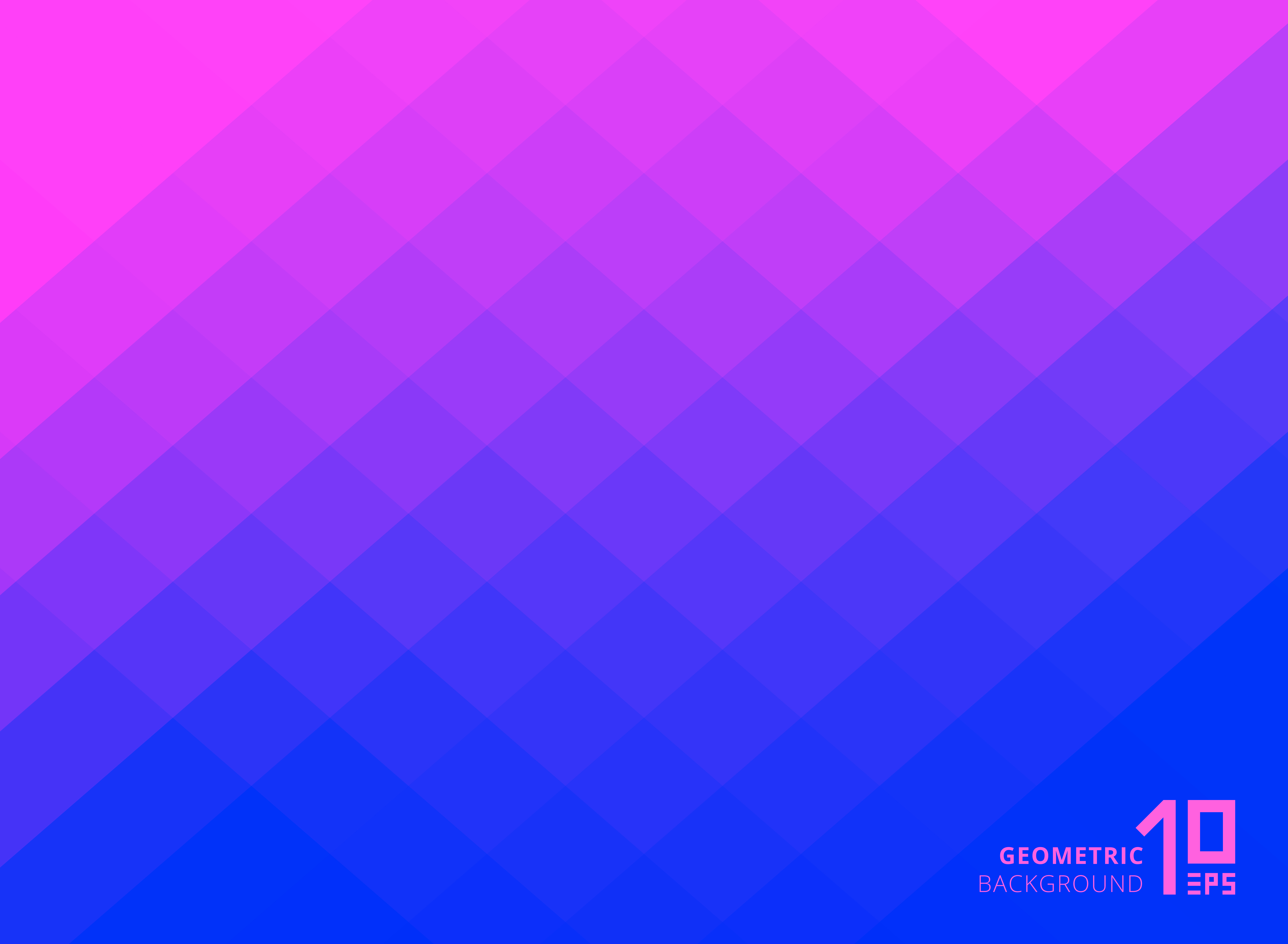 Abstract Pink And Blue Gradient Color Squares Pattern