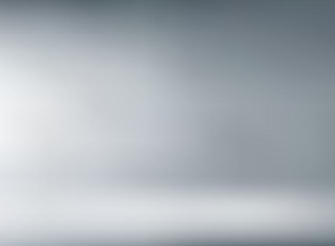 Estudio de fondo gris con iluminación suave. vector