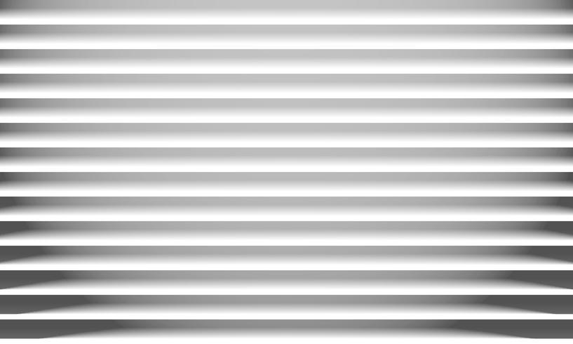 Resumen de papel blanco líneas horizontales textura y sombra de fondo. vector