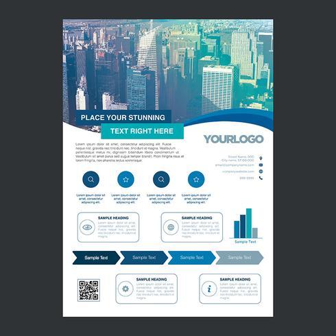Bluel Flyer Zakelijke brochureontwerp