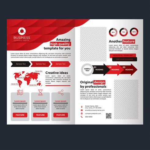 Folleto de Red Business Fold