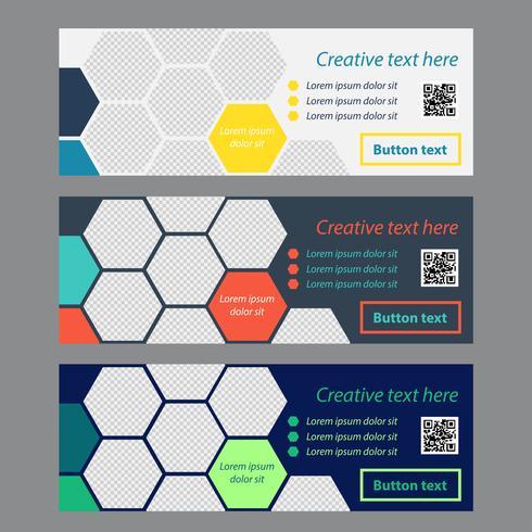 Hexagon Kleurrijke Banner Collection