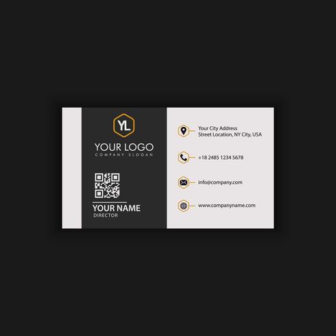 Carte de visite élégante en noir et or