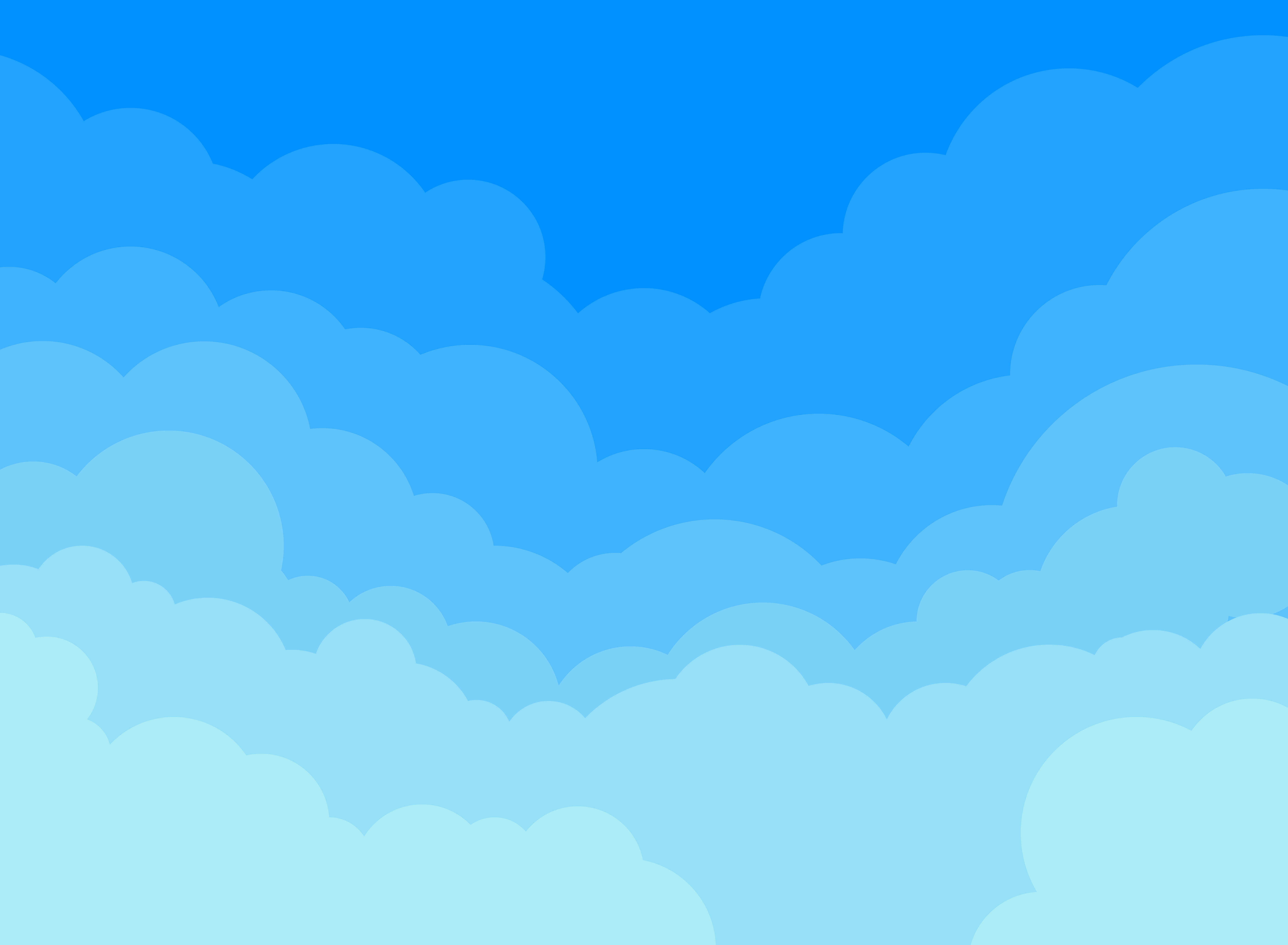 paper clouds and blue sky background