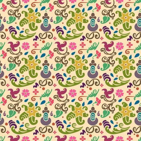 teste padrão floral sem costura com fundo de cor lisa vetor
