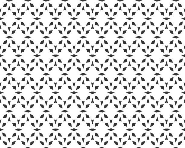 Abstract geometrisch naadloos patroon. Herhalende geometrische zwart-witte textuur. geometrische decoratie vector