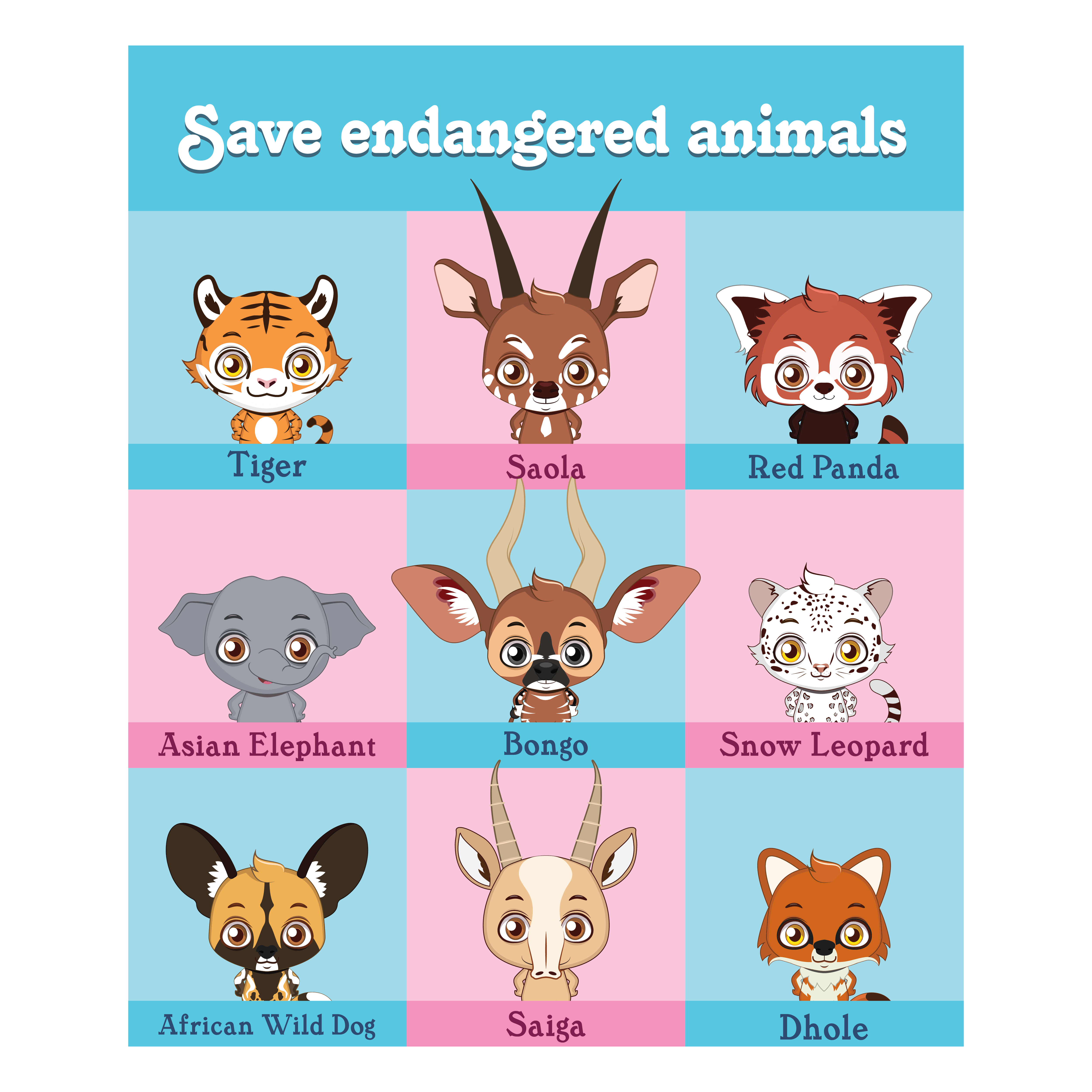 Collection of endangered animal portraits - Download Free ...