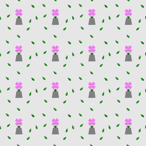 Textura rosada inconsútil del vector del estampado de flores lindo de la flor y de la hoja. Elegante plantilla para estampados de moda fondo blanco. ilustración.