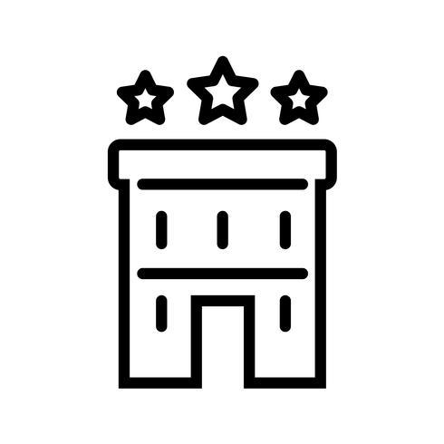 Three StarsHotel Icon Vector