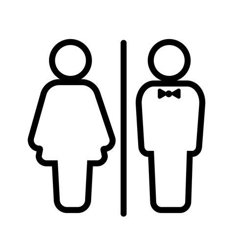 Vetor de ícone de sala de WC