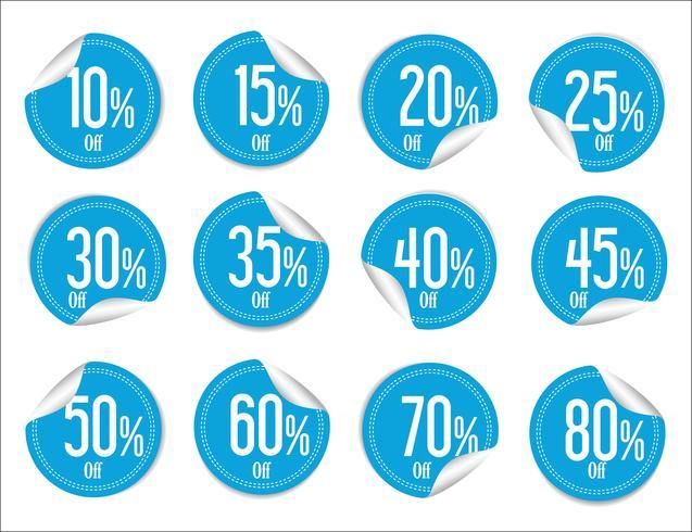 Collectie van kleurrijke verkoop stickers en tags vector