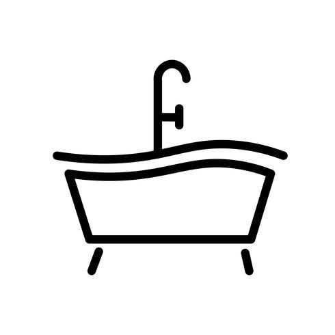 Vecteur d'icône de baignoire