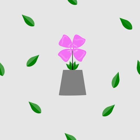 Leuke bloemenpatroon roze bloem en blad vectortextuur. Elegante sjabloon voor mode prints Witte achtergrond. illustratie.