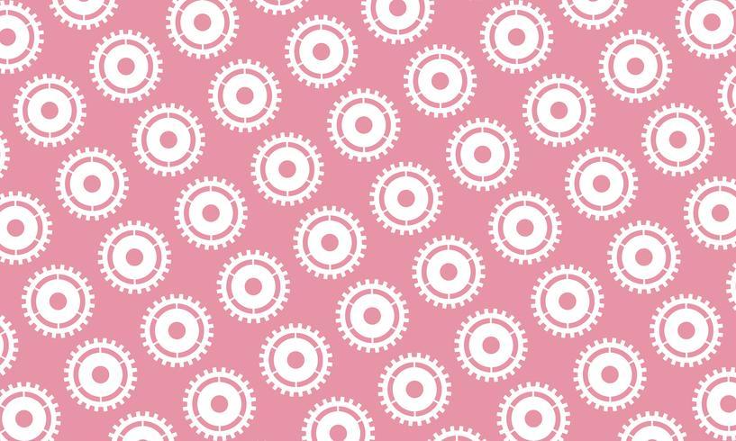 Abstrait de pignons et engrenages sur fond rose. illustration vectorielle de conception.