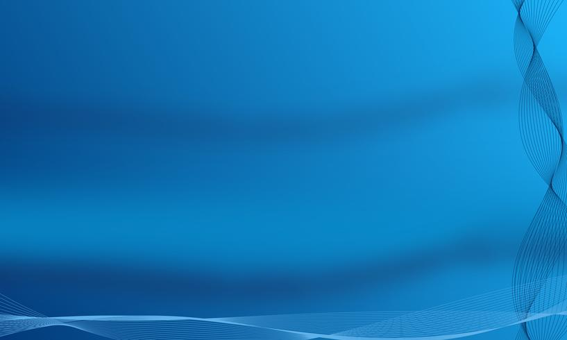 Manifesto colorato linea moderna blu scuro astratta. Illustrazione vettoriale
