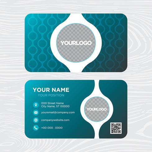 Design de cartão azul vetor