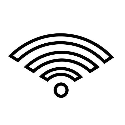 Vecteur d'icône WiFi