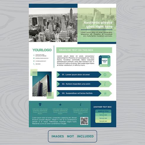 Progettazione dell'opuscolo di affari Flyer colorato