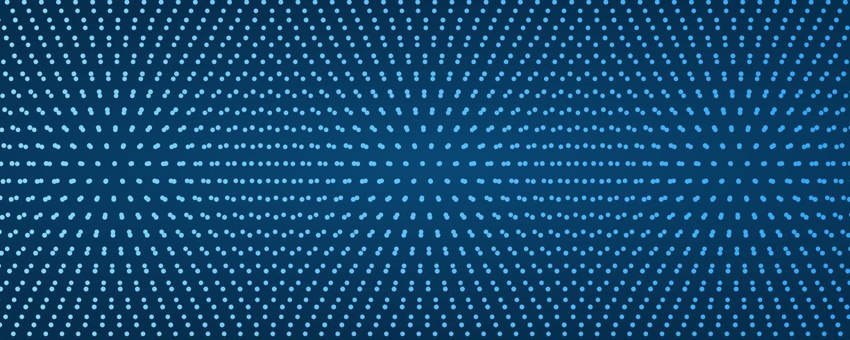 Punktmuster Zusammenfassung Moderne dunkelblaue Linie farbiges Plakat. Vektor-illustration