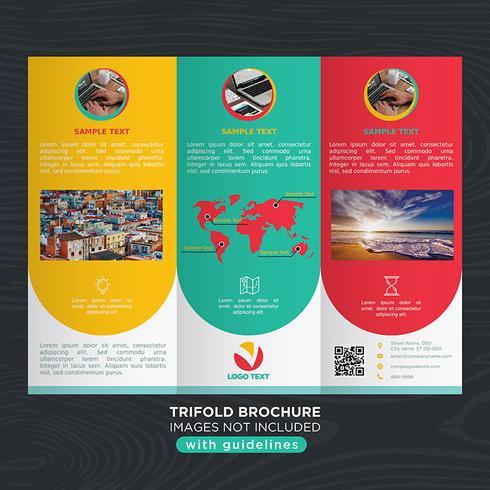 Bunte dreifachgefaltete Geschäfts-Falten-Broschüre