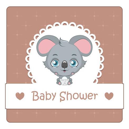 Baby douchekaart met schattige koala