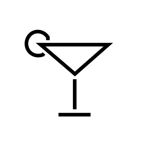 Cocktail Ikon Vector