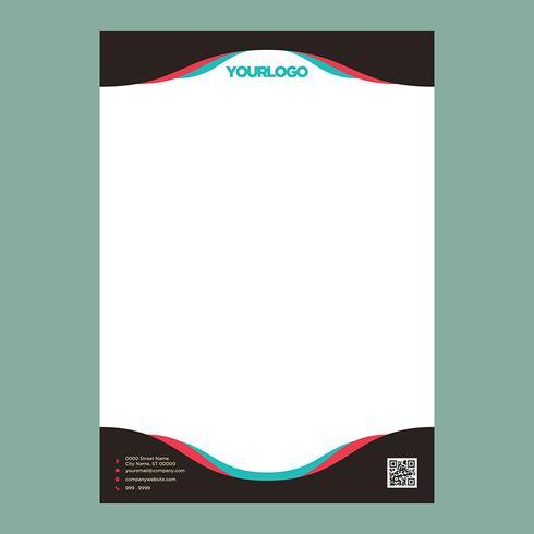 Modello di carta intestata colorata vettore