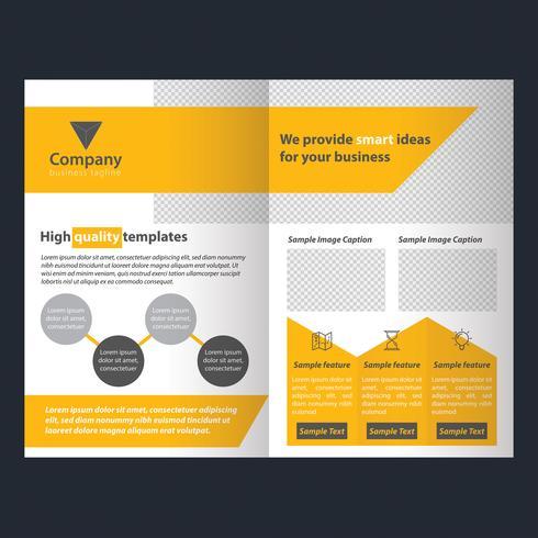 Folheto de panfleto de negócios amarelo