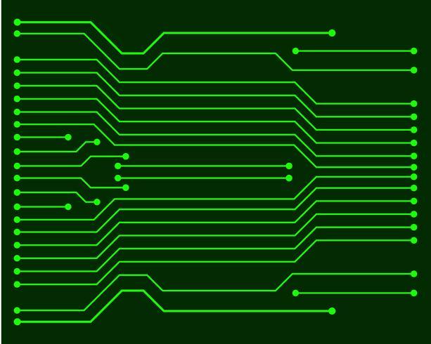 Vector ilustración de la placa de circuito EPS10