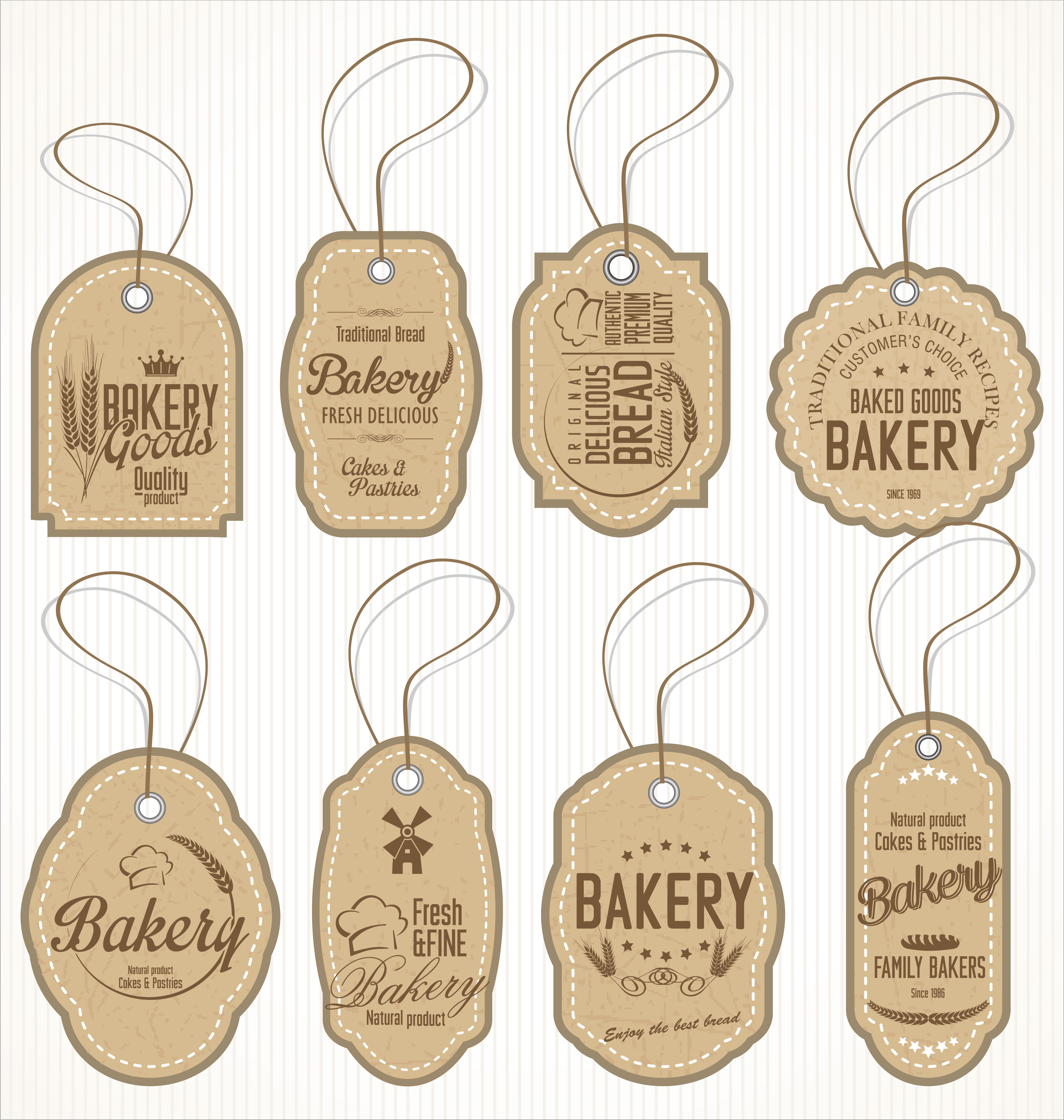 Bakery Logo Emblem Set: Download Free Vectors, Clipart