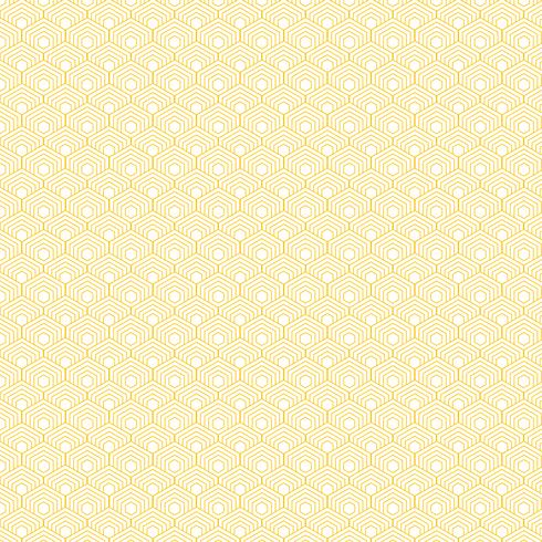Abstract yellow hexagon border pattern background.