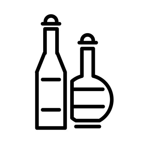 Vector de icono de bebida de alcohol