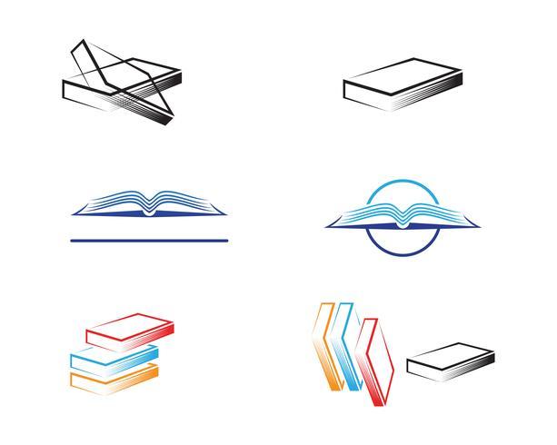 Buch lesen Logo und Symbole Vorlage Symbole