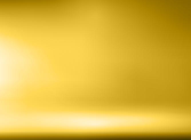 Fundo de quarto de luxo ouro Studio com holofotes vetor