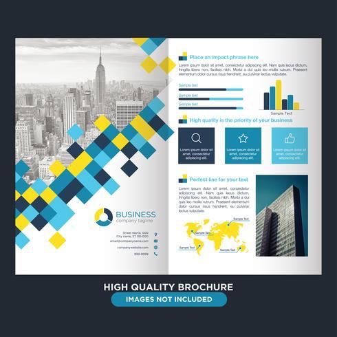 Brochura de negócios amarelo azul