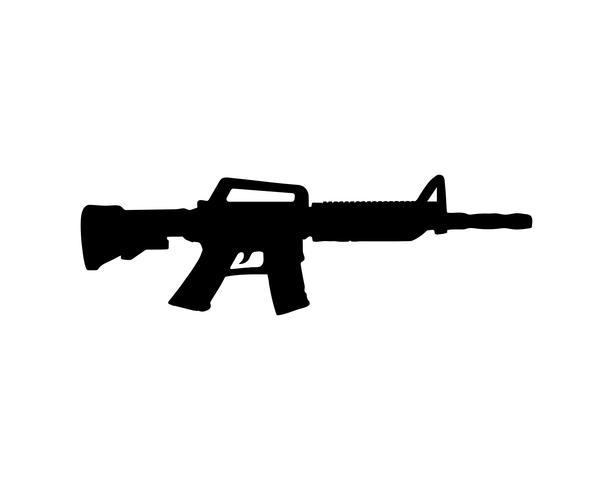 Colore nero di vettore della siluetta della pistola
