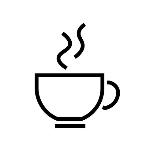 Koffie pictogram Vector