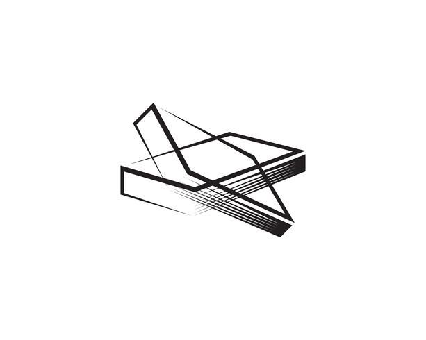 Libro de lectura de iconos de logotipo y símbolos de plantilla vector