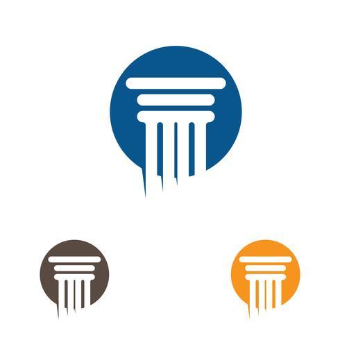 Columna Logo Vector Plantilla