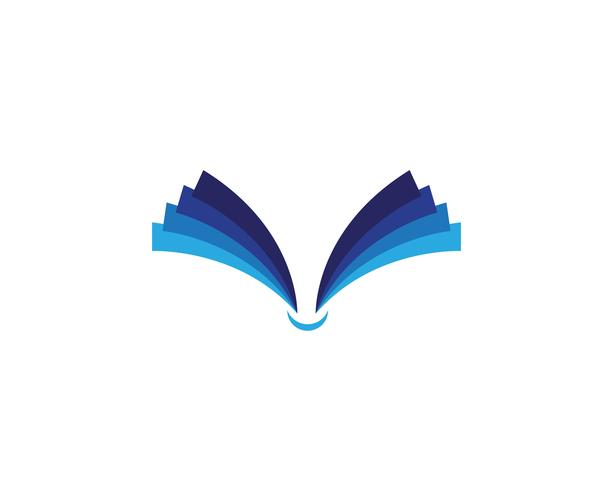 Book reading logo and symbols template icons