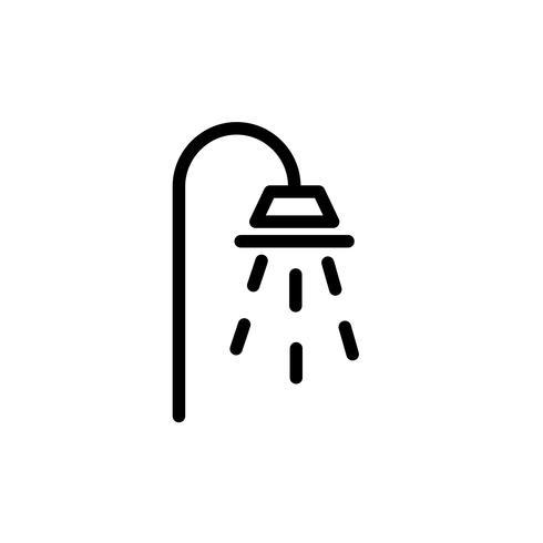 Vector icono de ducha