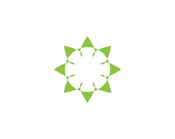 foglia verde logo ecologia natura elemento
