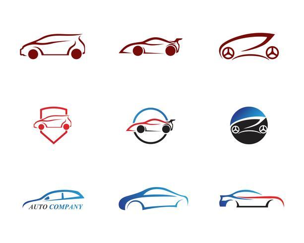 Logotipo del coche de carreras, ilustración de diseño simple